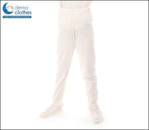 Spodnie od piżamy z doszytymi skarpetko - paputkami, antybakteryjne, antyalergiczne Maty^Care