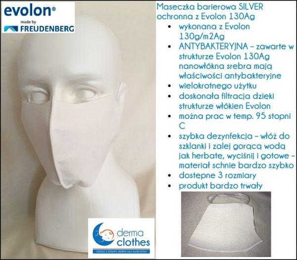 Maseczka-barierowa-antybakteryjna-pokrowiec-z-evolon-barierowy-antyroztoczowy-antyalergiczny-ochrona-przed-roztoczami-130g-130g/m2-włókna-srebra-sova-alergika-roztocze-kurzu-domowego-ochrona-przed-drapaniem-niekontrolowanym-kalesony-ochronne-bielizna-dla-alergików-atopików-atopowe-zapalenie-skóry-kalesony-ochronna-ochronna-bielizna-piżama-poszwa-azs-ochronna-alergia-azs-srebro-jony-srebra-naturalny-bawełna-jedwab-evolon-130Ag-nanosrebro-antybakteryjny-antywirusowa